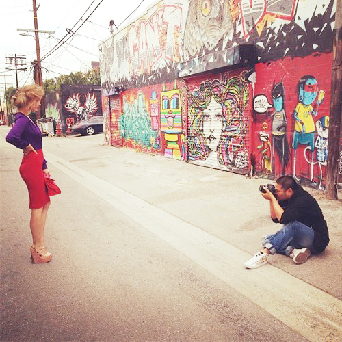 Photographer, Ian Maxion shooting Irina